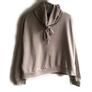 All Saints Tubo Sweatshirt Drawstring M Vanilla